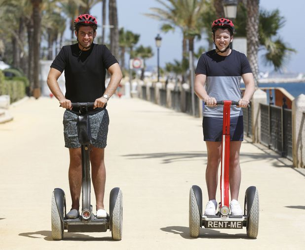 James Arg Argent and James Diags Bennewith, Marbella 3 June