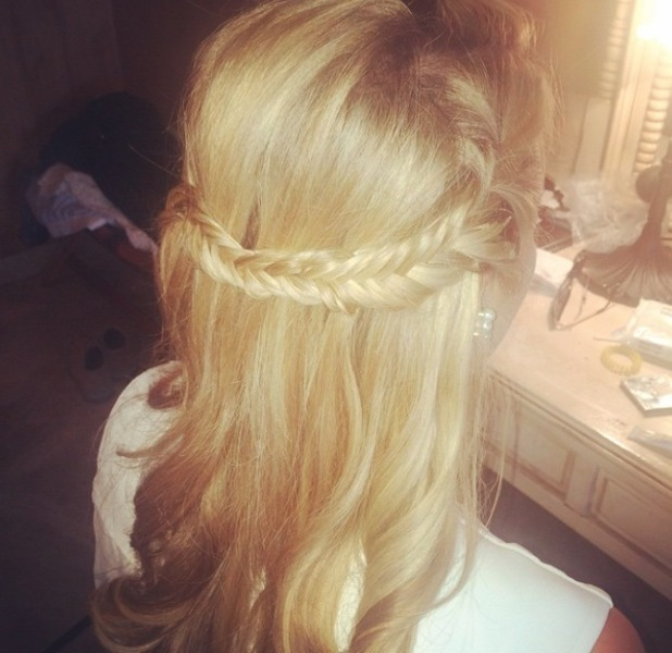 TOWIE's Lydia Rose Briht posts picture of her braid to Instagram/Marbs/Marbella 4th June 2015