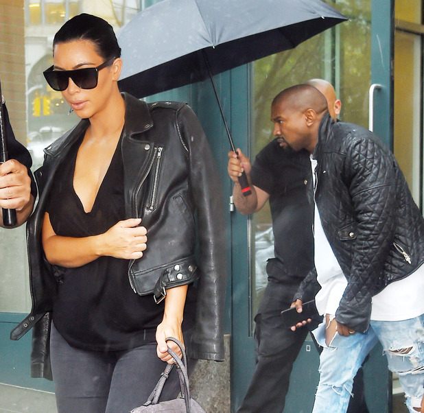 Pregnant Kim Kardashian and Kanye West Out and About in New York, America - 01 Jun 2015
