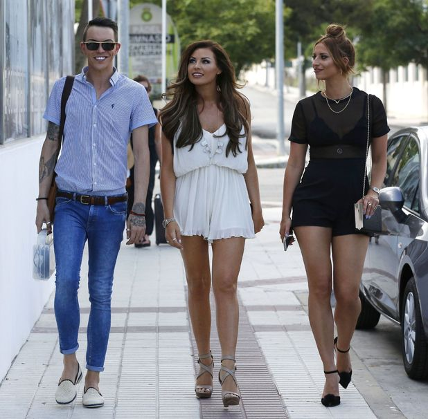 'The Only Way is Essex' in Marbella, Spain - Bobby Norris, Jessica Wright and Ferne McCann - 30 May 2015.