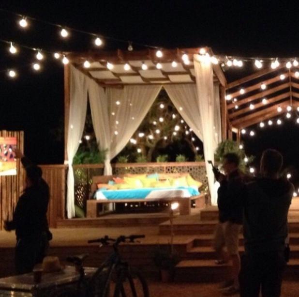 Caroline Flack shares photo of Love Island set, Majorca 31 May