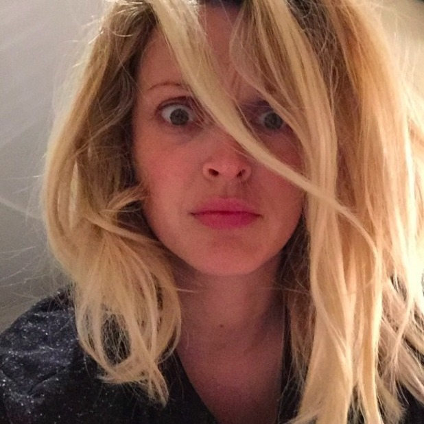 Pregnant Fearne Cotton shares bad bed hair selfie, 3 June 2015