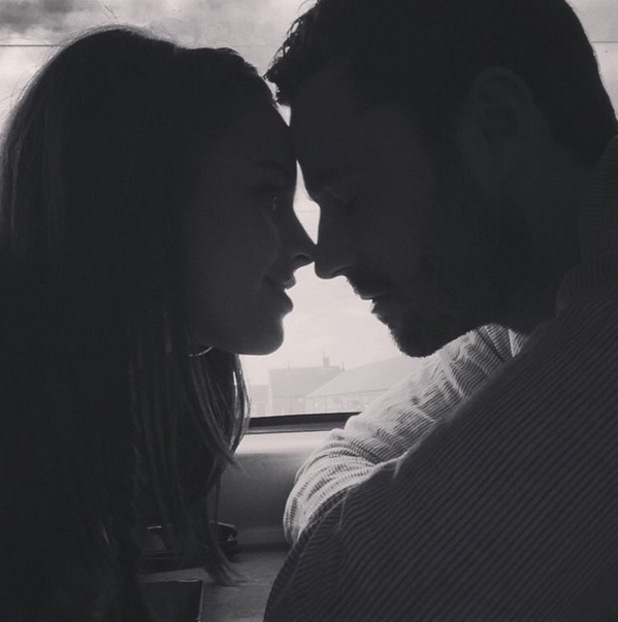 Georgia May Foote shares loved-up photo with Corrie star boyfriend Sean Ward - 23 May 2015.