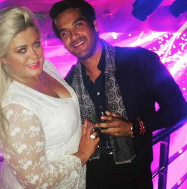 TOWIE's Gemma Collins parties in Marbella and poses with a mystery man - 30 May 2015.