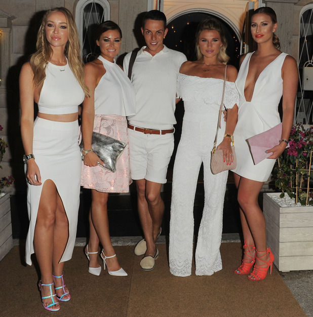 Lauren Pope, Jessica Wright, Bobby Cole Norris, Billie Faiers and Ferne McCann, 'The Only Way Is Essex' in Marbella, Spain - 02 Jun 2015