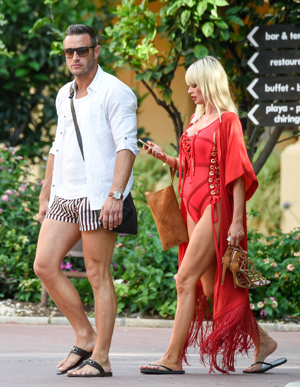 TOWIE's Chloe Sims with ex- Elliott Wright in Marbella - 1 June 2015.