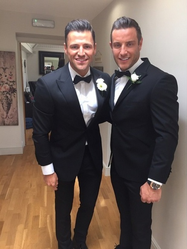 Mark Wright and Elliott Wright on Mark's wedding day, Instagram 31 May