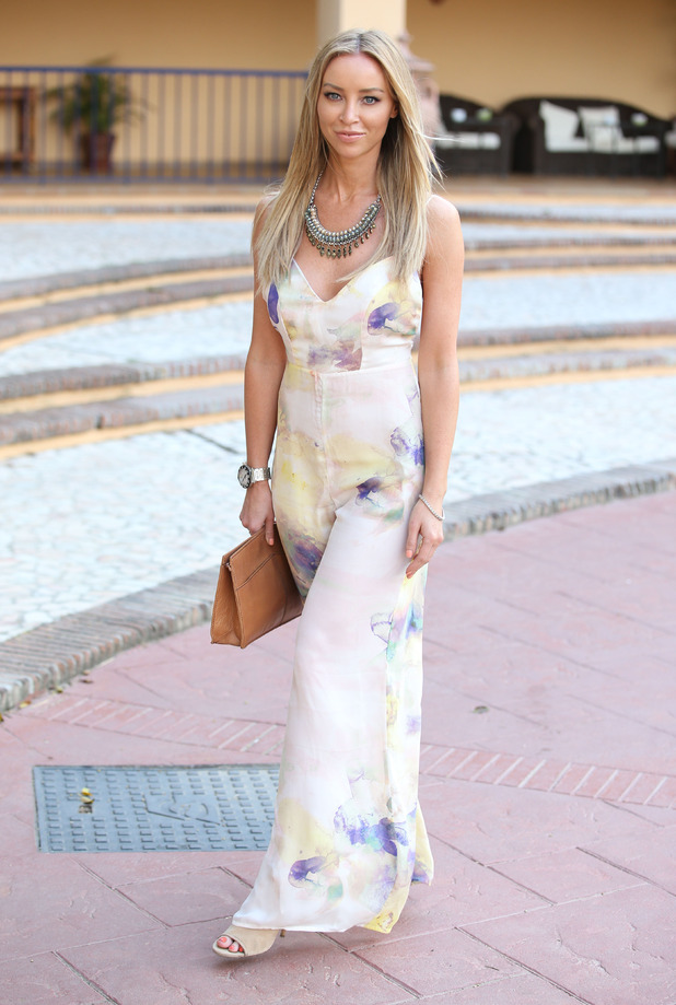 Lauren Pope arrives in Marbella for TOWIE filming, 31st May 2015