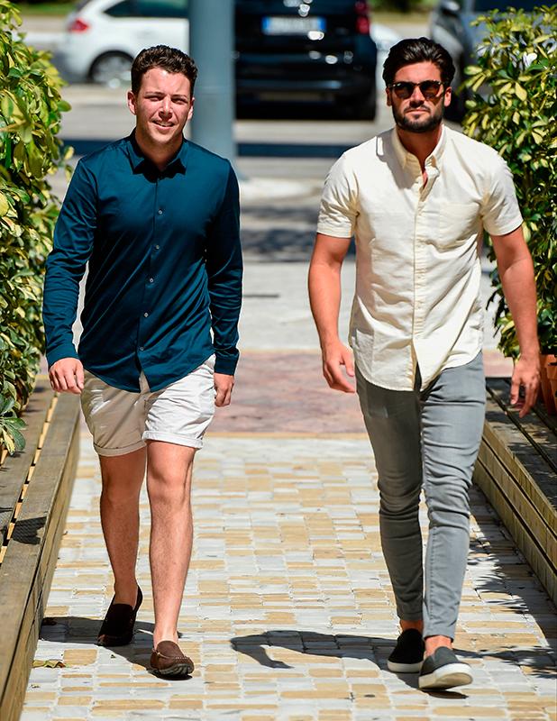 Diags and Dan Edgar, TOWIE stars film at Cavalli club in Marbella, 4 June 2015