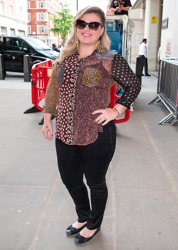 Kelly Clarkson at the BBC Radio 1 studios, 4 June 2015