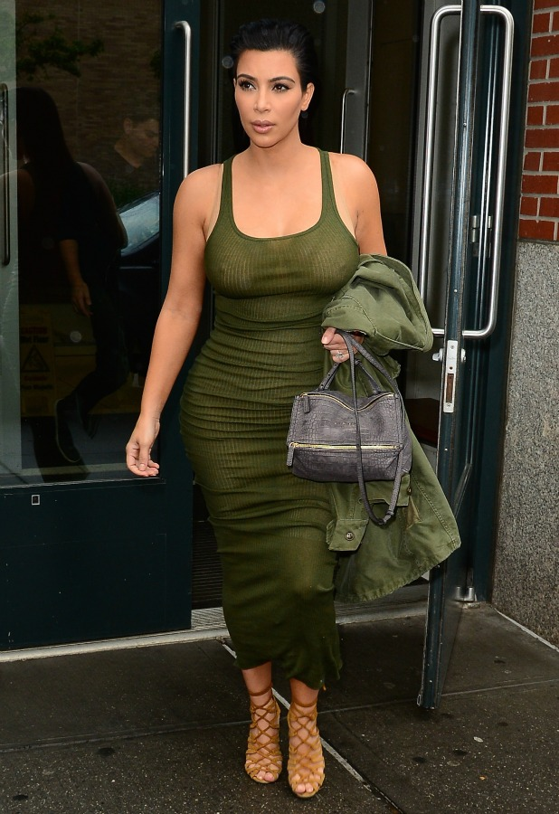 Kim Kardashian is seen walking in Soho on June 2, 2015 in New York City.
