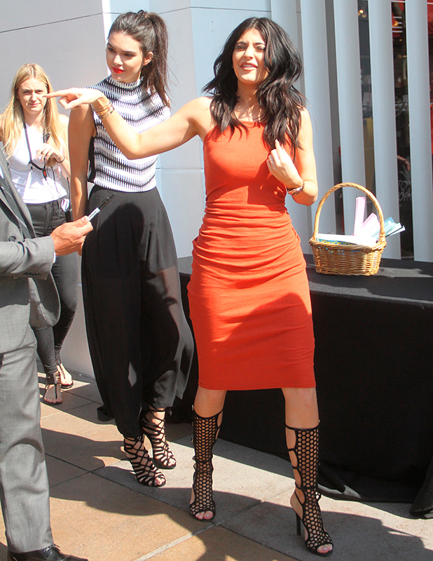 Launch party for the Kendall + Kylie fashion line at TopShop, June 2015