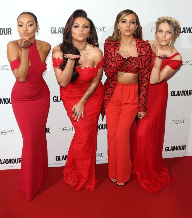 Leigh-Anne Pinnock, Jesy Nelson, Jade Thirlwall, Perrie Edwards of Little Mix at Glamour Women of the Year Awards, 2 June 2014