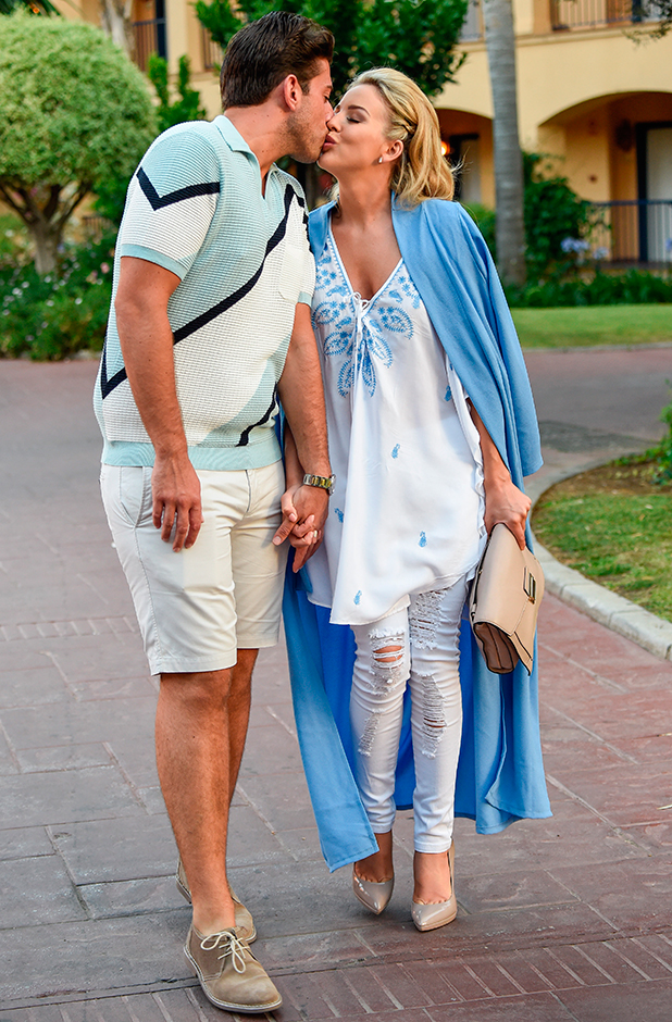 Lydia Bright and James Argent head to dinner in Marbella, 4 June 2015