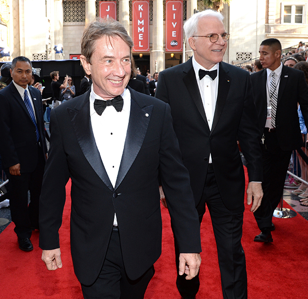 Actor Martin Short (L) and honoree Steve Martin attend the 43rd AFI Life Achievement Award Gala honoring Steve Martin at Dolby Theatre on June 4, 2015 in Hollywood, California. (Photo by Michael Kovac/Getty Images for AFI)