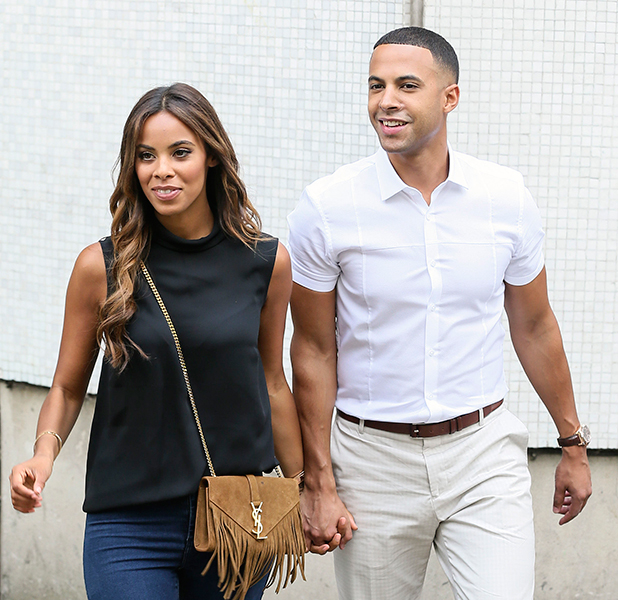 Celebrities at ITV studios, London, Britain - 05 Jun 2015 Rochelle Humes and Marvin Humes