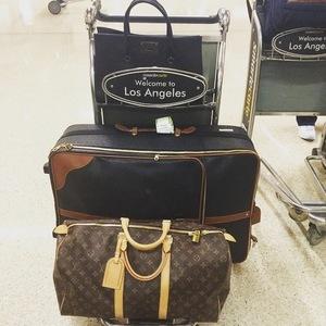 Lucy Watson lands in LA 8 June