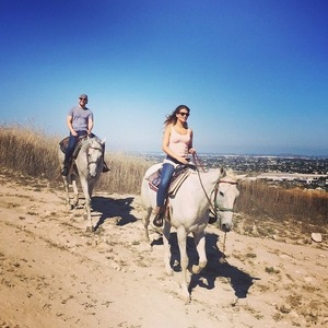 Amy Willerton horseriding in California with boyfriend Rob Gough, 8th June 2015