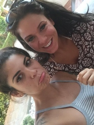 Vicky Pattison and Cami Li in Spain 8 June