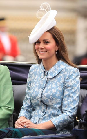 Kate Middleton attends the Trooping the Colour at Horse Guards Parade, 13 June 2015