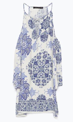 Blue and white Zara dress £45.99