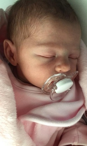 Abbey Clancy shares photo of newborn Liberty Rose, Twitter 7 June