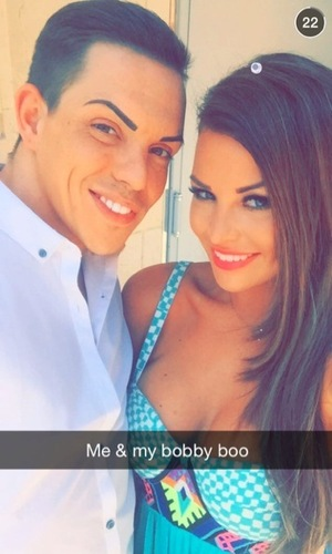 Bobby Norris and Jessica Wright, Marbella 6 June