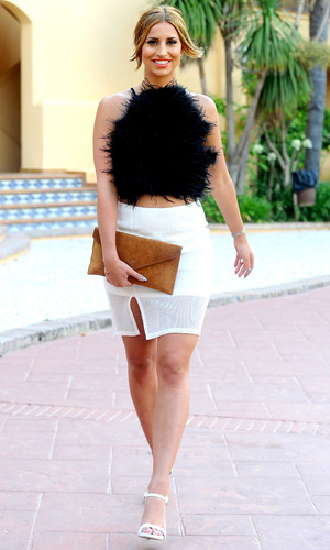 Ferne McCann wearing accessoryo.com clutch bag 8th June 2015