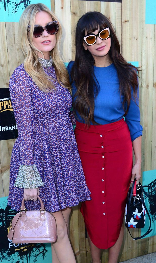 Laura Whitmore and Zara Martin at the Kopparberg Outdoor Urban Forest 11th June 2015