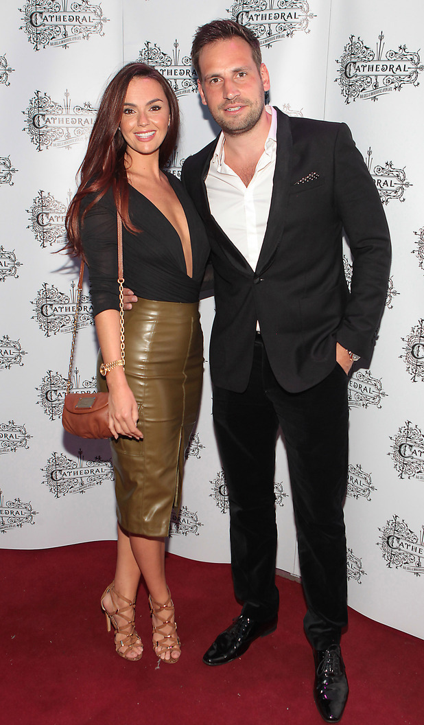 Jennifer Metcalfe and Greg Lake attend the opening of the Cathedral Bar and Restaurant in Dublin, Ireland, 12 June 2015