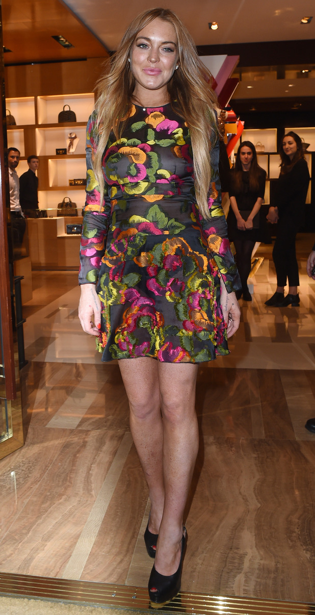 Lindsay Lohan at the Louis Vuitton private party in Mayfair, 10th June 2015