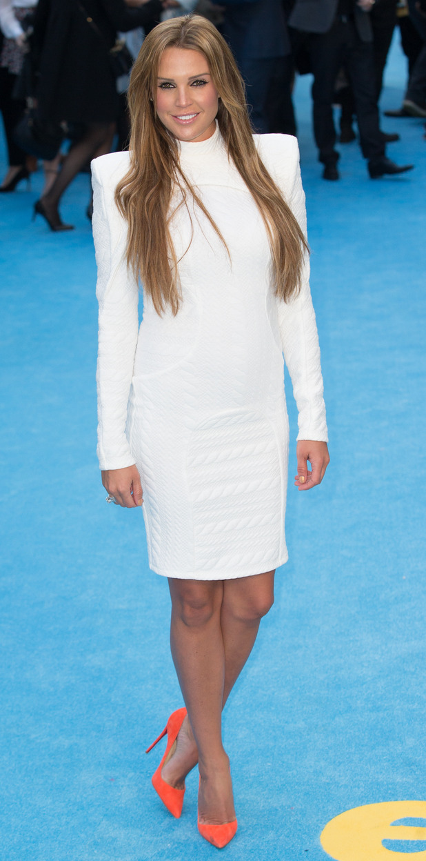 Danielle Lloyd at the Entourage premiere in London's Leicester Square, 10th June 2015