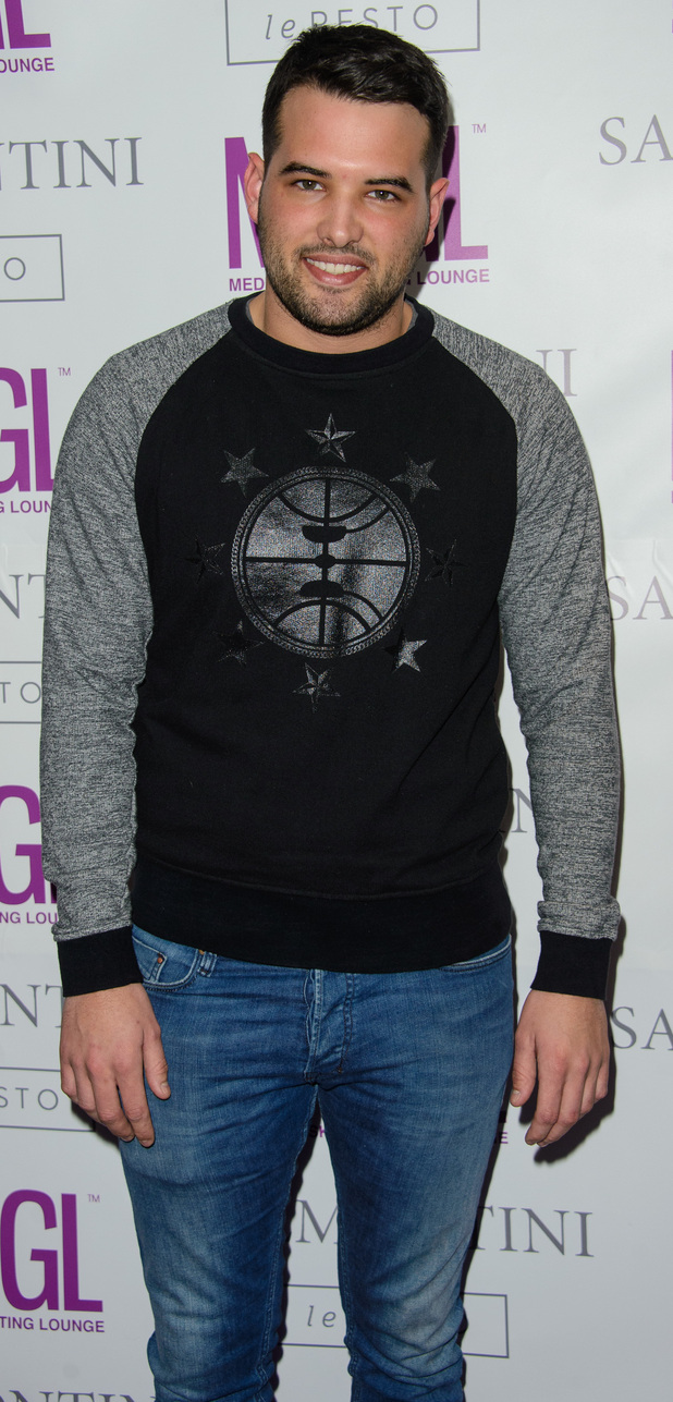 Ricky Rayment at Media Skin Gifting Lounge at Salmontini 19/01/15