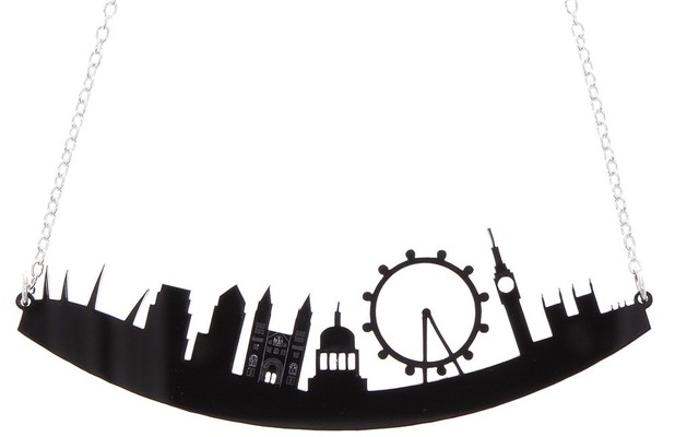 London skyline necklace from The Natural History Museum shop £25, 10th June 2015