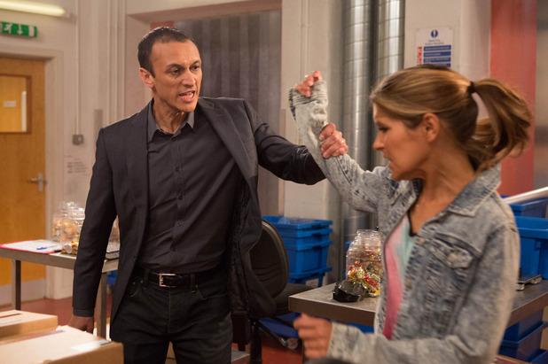 Emmerdale, Jai threatens Rachel, Fri 12 Jun
