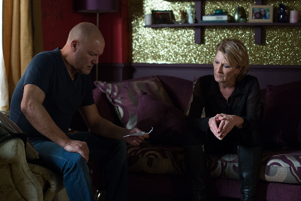 EastEnders, Shirley gives Buster the address, Fri 12 Jun