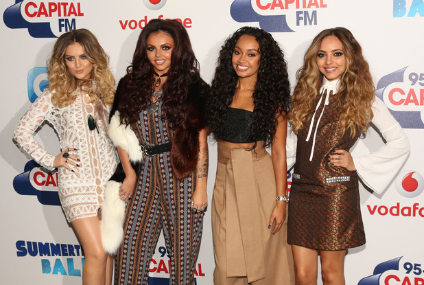 Little Mix, Perrie Edwards, Leigh-Anne Pinnock, Jesy Nelson and Jade Thirwall, arrive at Capital FM Summertime Ball, 6th June 2015