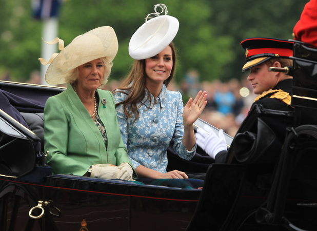 Kate Middleton attends Trooping the Colour at Horse Guards Parade, 13 June 2015