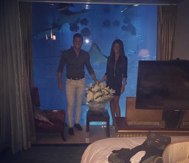 Mark Wright and Michelle Keegan on their honeymoon, Dubai 9 June