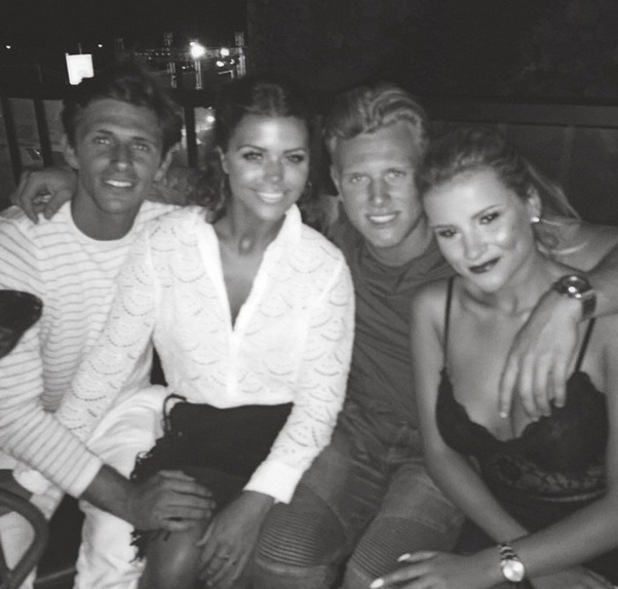 Jake Hall, Chloe Lewis, Georgia Kousoulou, Tommy Mallet in Marbella 5 June