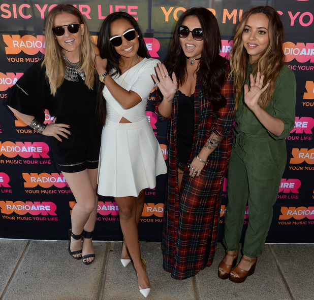 Little Mix at a radio appearance in Leeds, 11th June 2015