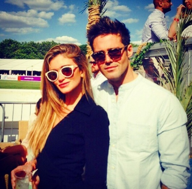Spencer Matthews and Lauren Hutton at the polo 6 June
