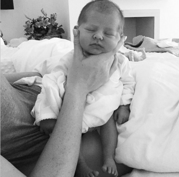 Abbey Clancy shares a photo of newborn Liberty Rose, 9th June 2015