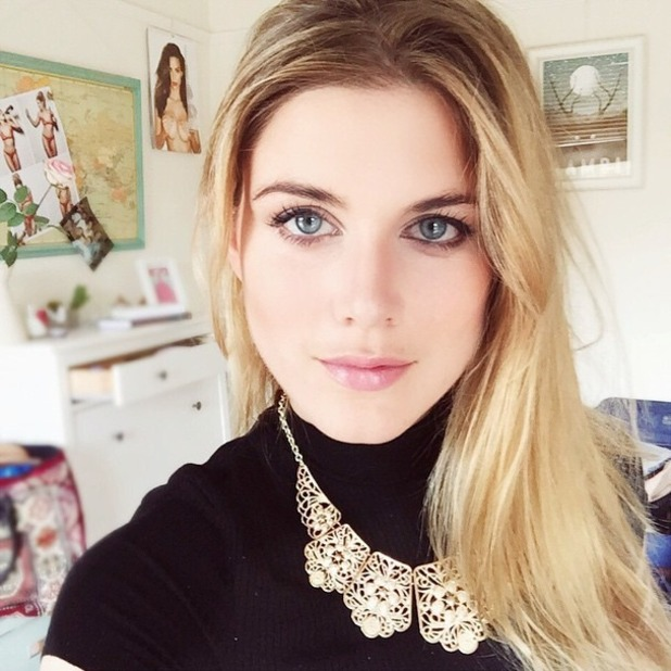 Ashley James selfie before going to the Grub Club, 7 June 2015