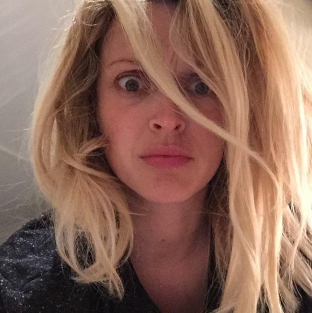 Fearne Cotton no make-up, wild hair, 3 June 2015