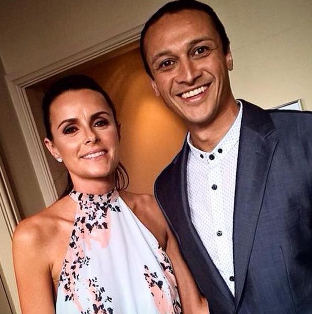 Chris Bisson and his partner Rowena Finn at the British Soap Awards 2015 at the Palace theatre - 16 May 2015.