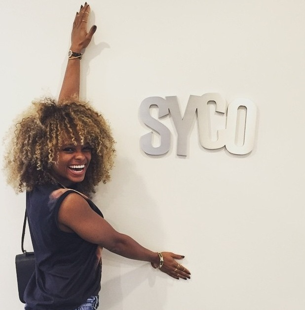 X Factor star Fleur East visits the Syco headquarters in America - 11 June 2015.