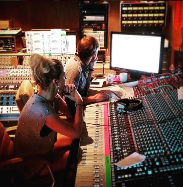 Sarah Harding works on new music, 4th June 2015