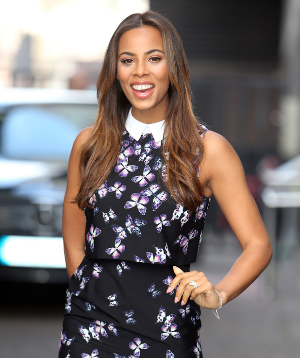 Rochelle Humes outside the ITV studios - 10/4/2015.