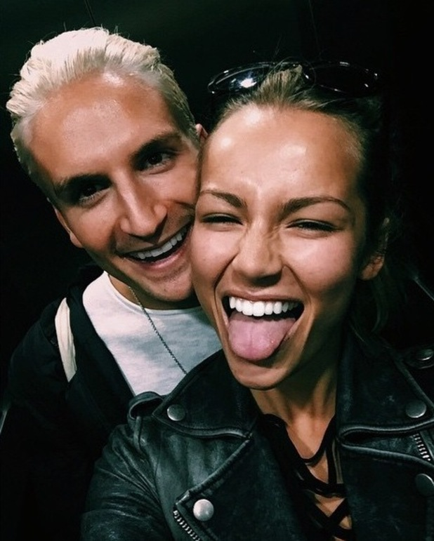 Made In Chelsea's Oliver Proudlock shows off new white hair in picture with girlfriend - 11 June 2015.